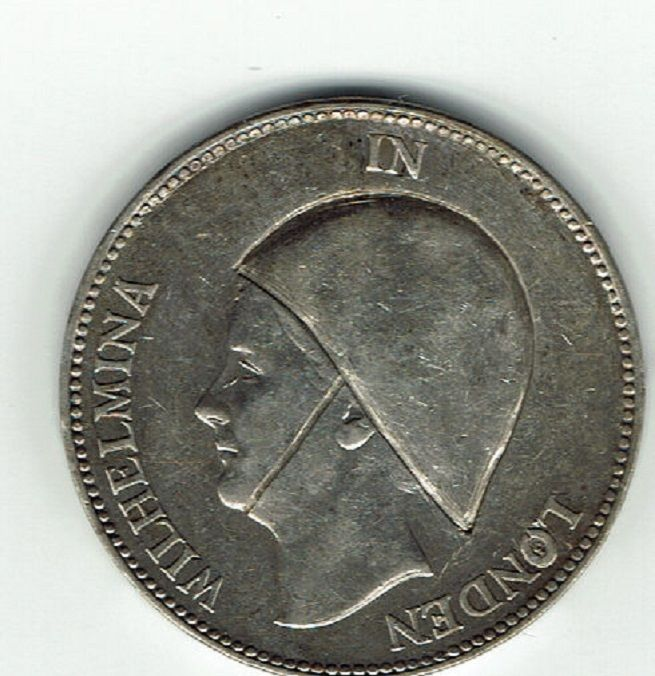 "The Netherlands – 1 guilder 1940 – ""Wilhelmina in London"" – silver"