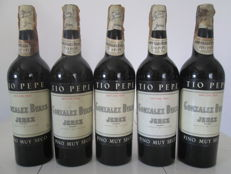Sherry Gonzales Byass Tio Pepe - 5 old bottles