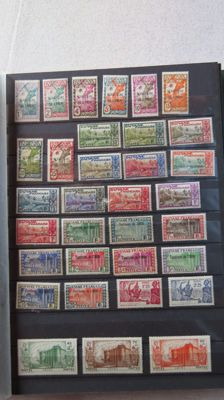 Ex French colonies 1892/1947 - Inini, Guadeloupe, Martinique and Guyana.