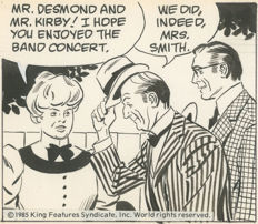 Prentice, John - 3 Original comic strips - Rip Kirby - Dailies for November 18-20, 1985