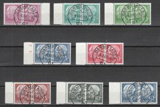 Federal Republic of Germany 1954 – definite series Federal President Heuss with Lumogen in pairs