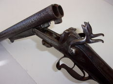 Old pin fire rifle Without reserve price.