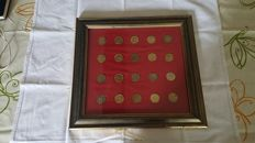 Framed commemorative medals