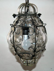 Beautiful Venetian pendant lamp, second half 20th century.