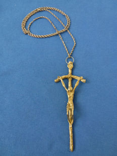 Handmade crucifixes with a 925 silver necklace