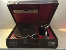 Sonora suitcase gramophone with Thorens gramophone head