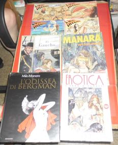 Manara, Milo - 8x album and volumes, in Italian language