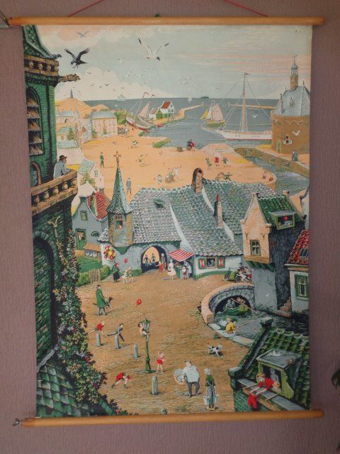 Old school plate / story poster, the Summer poster by W. G van der Hulst Jr