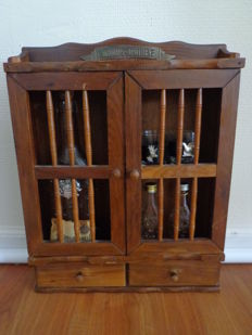 Schnapps apothecary cabinet with content obstwasserle wilko