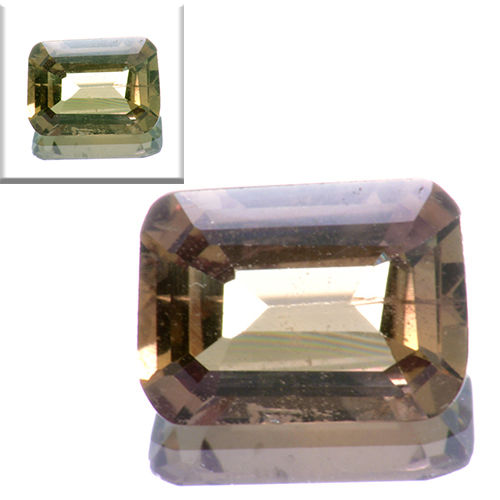 Sapphire with colour change green-orange - 0.91 ct