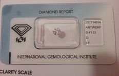 Diamond – 0.41 ct – D/IF brilliant cut – round