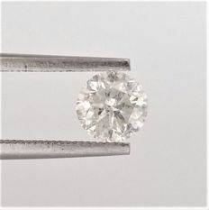 Round Brilliant Cut  - 1.11 carat - G color - I1 clarity- Comes With AIG Certificate + Laser Inscription On Girdle