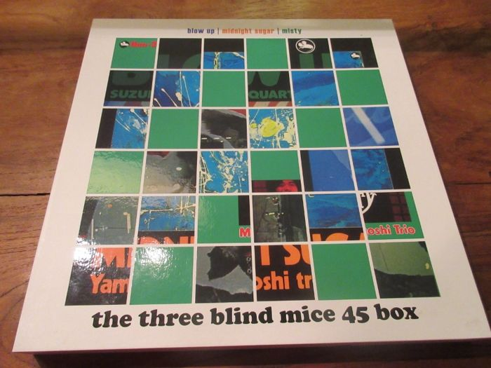 Isao Suzuki Trio - Quartet* - Tsuyoshi Yamamoto Trio ‎– The Three Blind Mice 45 Box (3 LP Impex records) 180 gr vinyl