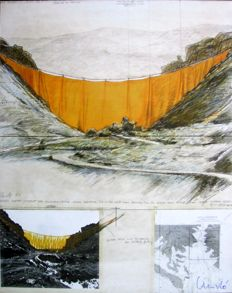 Christo - The Valley Curtain - Project for Colorado 1971