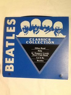 Classic greek LP collection The Beatles in its briefcase