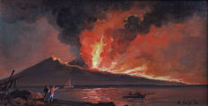 Artist unknown (signed Coppola) - Vesuvio in Eruzione