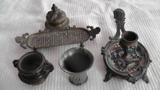 4 Beautifully Decorated Inkwells