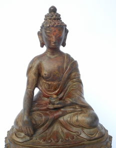 Amitabha Buddha, copper (height: 22 cm) - Tibet - 17th century