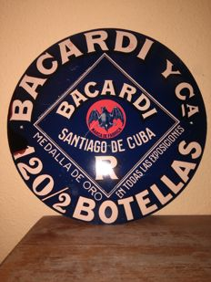 Very rare poster of BACARDI Y CIA. Mid  20th century