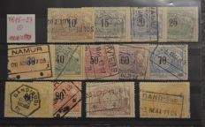 Belgium, 1895-1974 – selection of official stamps, military stamps and pre-cancelled stamps