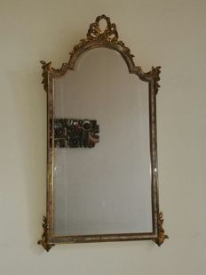 Beautiful and large (108x58 cm) Louis XVI style mirror, France, 1950s