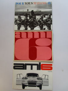 Citroen Ami 6 - Lot of 3 catalogues for Ami 6 models -from 1962 to 1965.