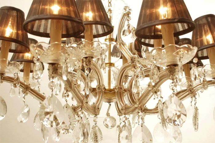 Large crystal chandelier - 15 Light points