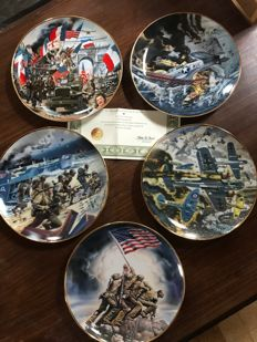 Lot of 5 plates - Franklin Mint