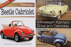 2 Books on Volkswagen Karmann Ghias and Cabriolets