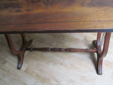 Mahogany harp table, second half 20th century