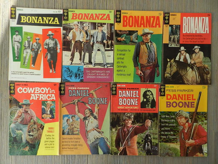 Gold Key Classic TV Series Comics Set with Bonanza, Daniel Boone, Gunsmoke and I Spy + More - 16x sc (1964-1970)