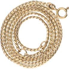 14 kt – Yellow gold link necklace – Length: