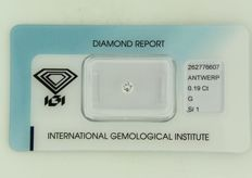 0.19 ct brilliant cut diamond – No reserve price