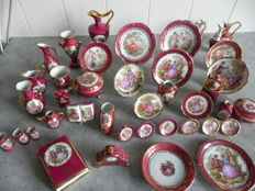 Limoges France - 44-piece porcelain miniatures collection