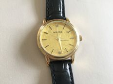 Montine 24K Gold Leaf dial with 2 Diamonds - Wristwatch