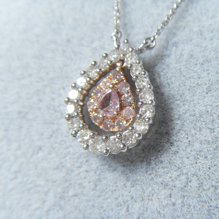 18kt necklace with0.395ct of  diamond - 40,5cm