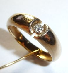 Men's ring made of 14kt / 585 gold with 0.13ct. Diamond - ring size 60