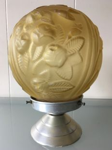 Designer unknown - Art deco ceiling lamp with floral decor