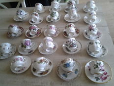 33 Cups and saucers including 10 by Royal Albert & 3 Royal Albert plates
