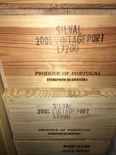 "2005 Vintage Port Quinta do Noval ""Silval"" – 24 bottles of 0.75l OWC"