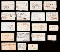 Spain 1795/1847 – Province of Valladolid. Pre-adhesive mail. Lot of 19 pieces.