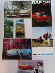 DAF - Lot of 7 brochures Daffodil  - from 1959 to 1971