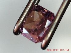 Diamante 0.17 Fancy Purplish Pink GIA