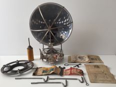 B.A. HJORTH - Antique chrome PRIMUS Model 110 with accessories