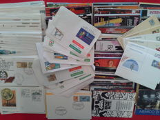 Italian Republic, 1959–1977 — Lot of 663 First Day Covers, Postal Cards, Aerogrammes and Advertising Postcards