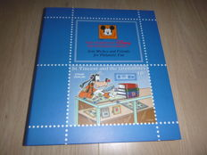 Disney - stamp album and stock book filled with series and sheetlets