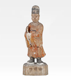 Antique sculpture, court dignitary - China - Late 17th century