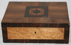 Inlaid wooden box - first half of 20th century