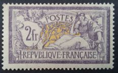 France 1920 - Merson 2f. purple and yellow - Yvert no. 122