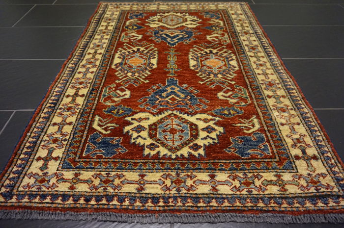 Collector's item, beautiful hand-knotted oriental carpet, Kazak, Caucasus, very good condition, 90 x 130 cm, rug